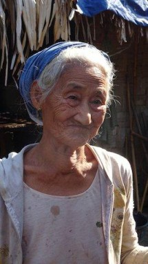 Grandmother who is the only survivor of 7 villagers captured in Nam Lim Pa area.