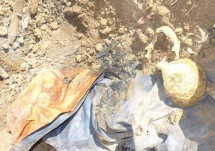 Remains of one of the seven tortured to death by Burma Army Jan 30 2014.