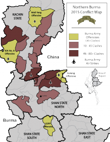 Northern Burma 2015 Conflict Map