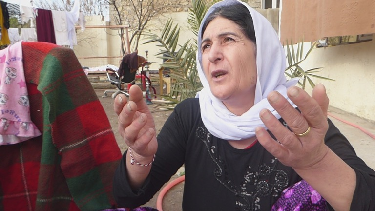 """""""It is enough, please stop ISIS."""" The appeal of a Yazidi mother who was sickened by yesterday's (25 Feb 2016 ) ISIS chemical attack."""