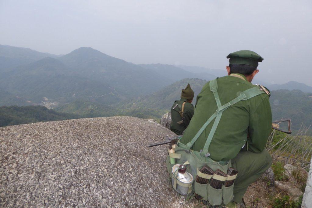 Kachin resistance fighters in Kachin State