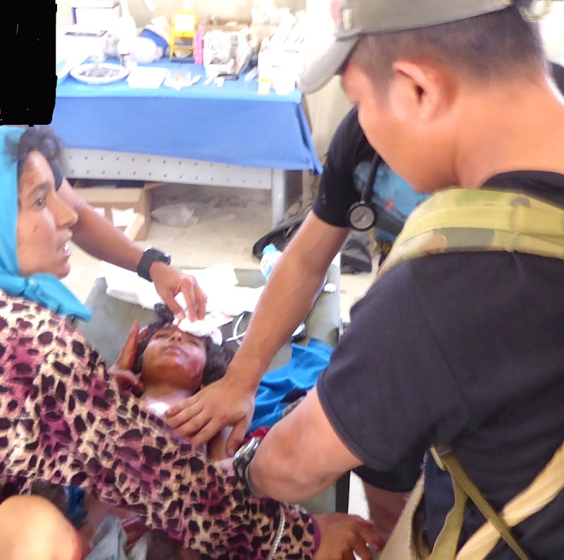 Child severely wounded by ISIS receives treatment by SF medic and Eliya