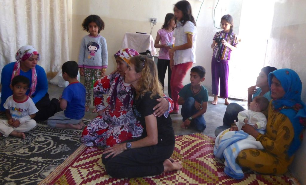 Children orphaned by ISIS attack stay with their aunts in Kobani.