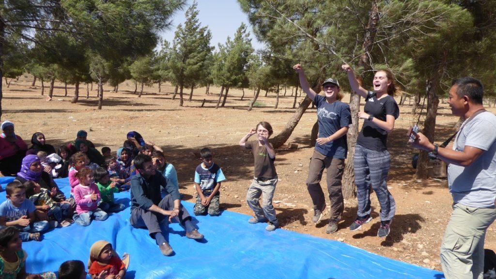 Singing for IDP orphans in Kobani.
