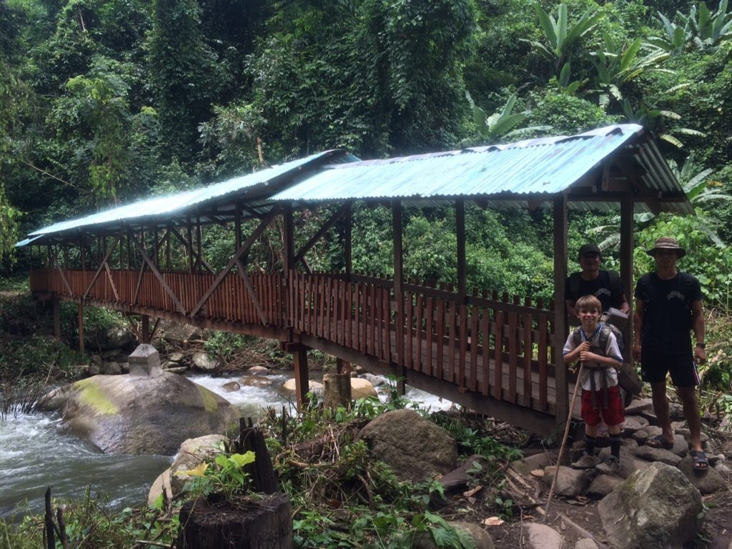 New bridge in camp built by the Rangers