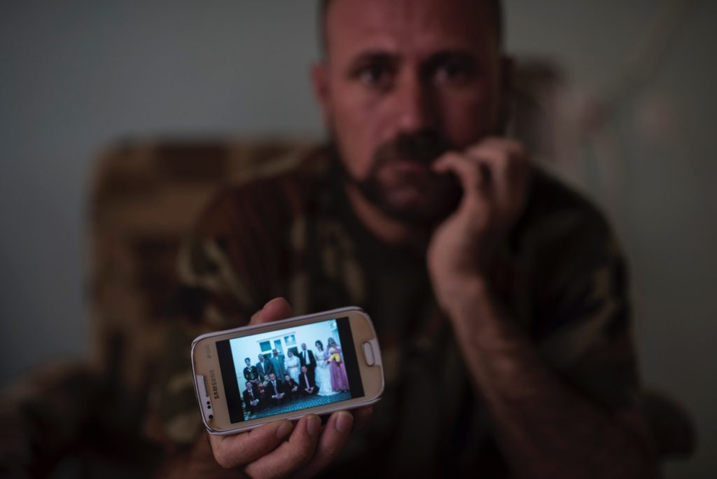 Nezar's wedding photo, all killed by ISiS except his wife who along with his children are held by ISIS