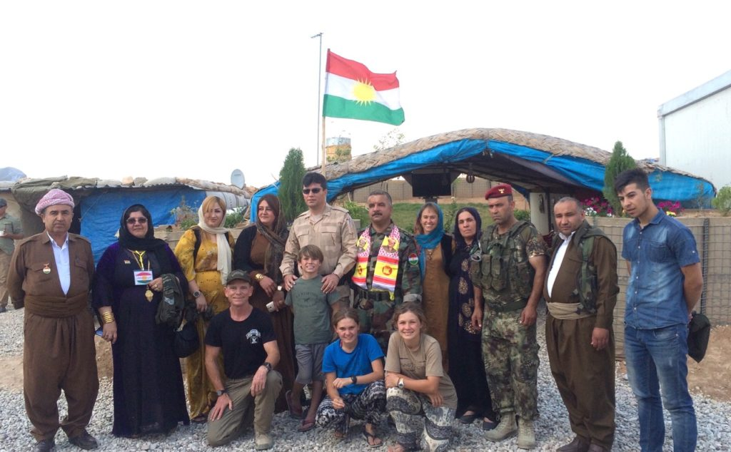 Some of the Duhok women groups and General Bahram on Basheeqa front line across from Mosul