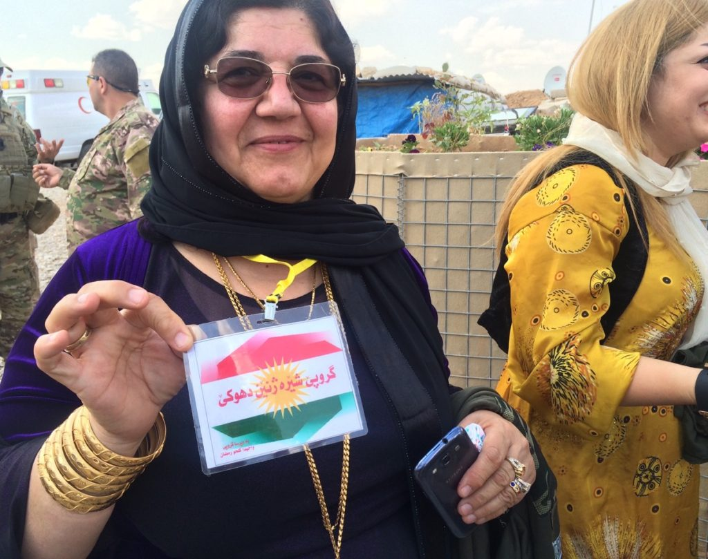 Leader of Duhok's women on the front to serve