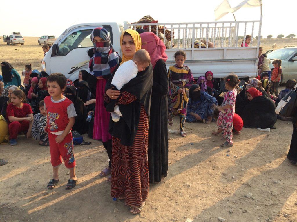 Women and children from Omar Qamshi