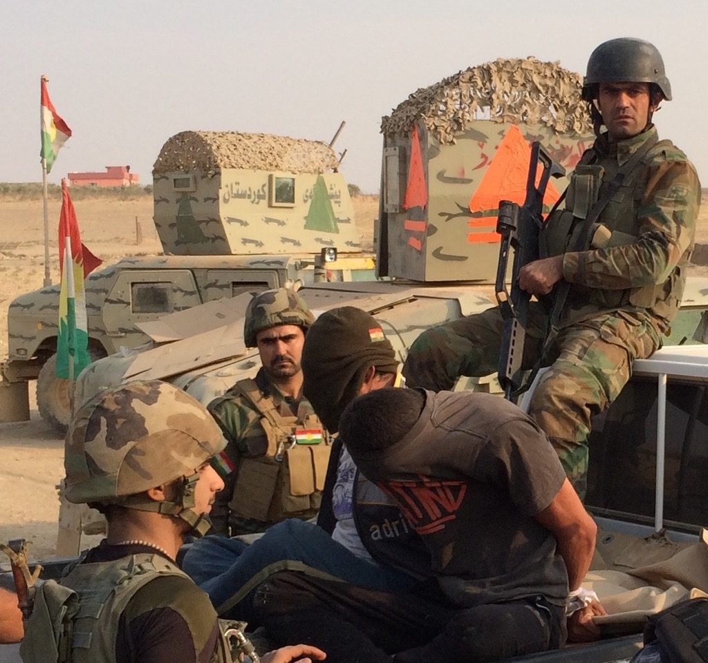 Two suspected ISIS soldiers captured by the Peshmerga