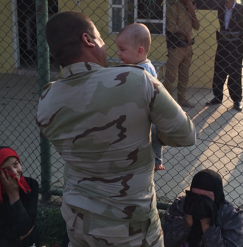 Kurd Peshmerga reunited with his relatives who were held by ISS for two years