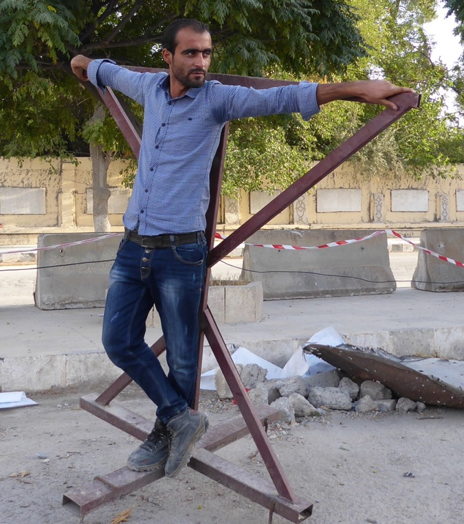 Where ISIS crucified people in Manbij, Syria