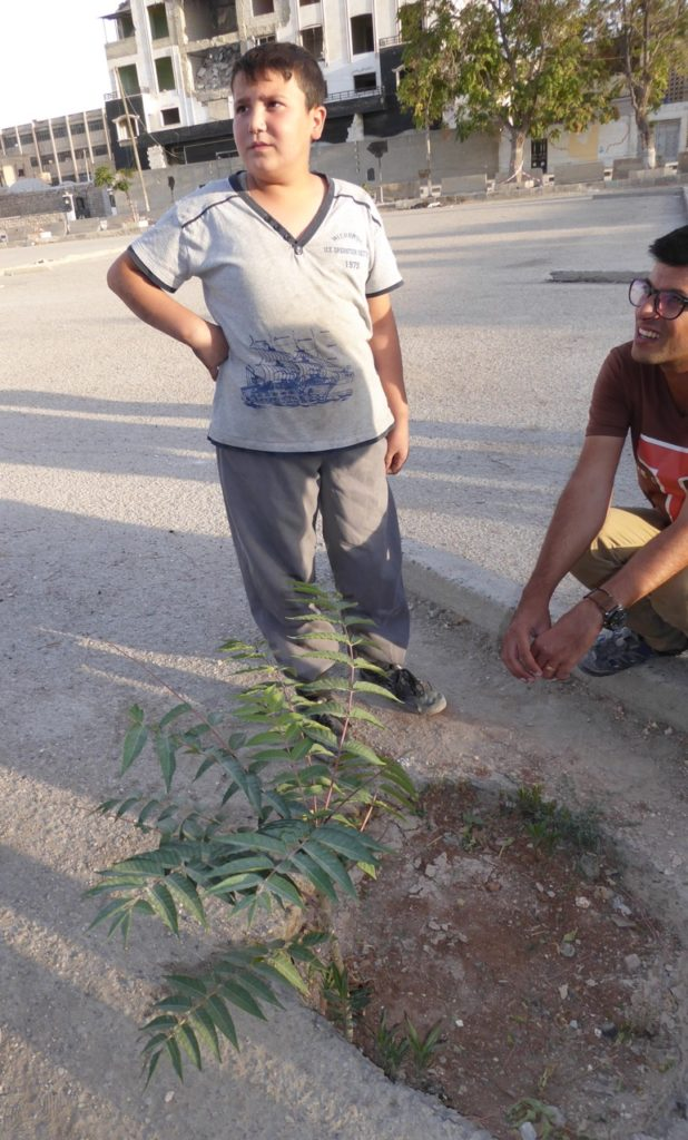 Boy who witnessed crucifixions and a mother being stoned. Now a tree grows at the site.