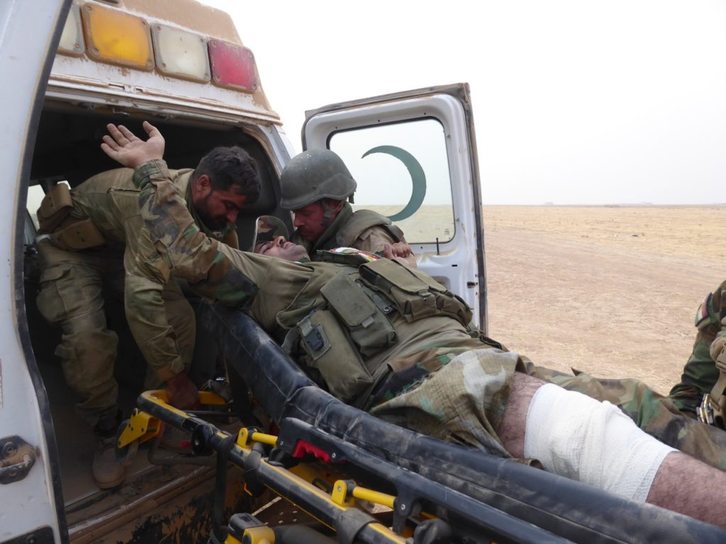 Evacuating wounded Kurds Photo; FBR