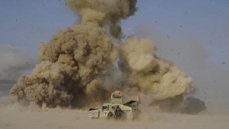 Suicide bomber in truck detonates near Kurd troops (Photo JC volunteer with FBR)