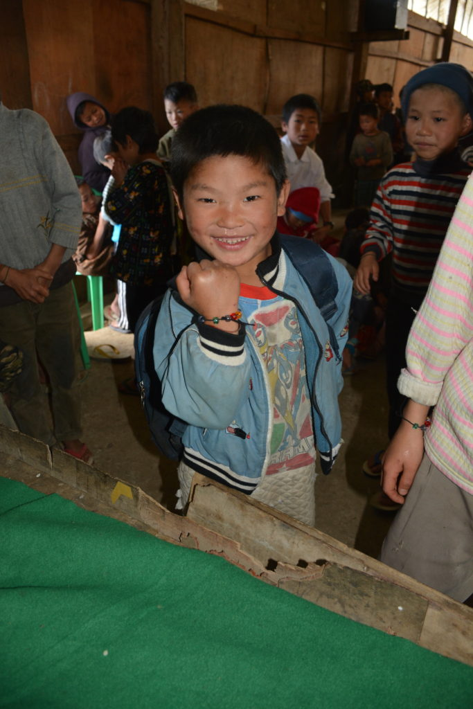 A child shows off his new GLC bracelet. Photo: FBR.