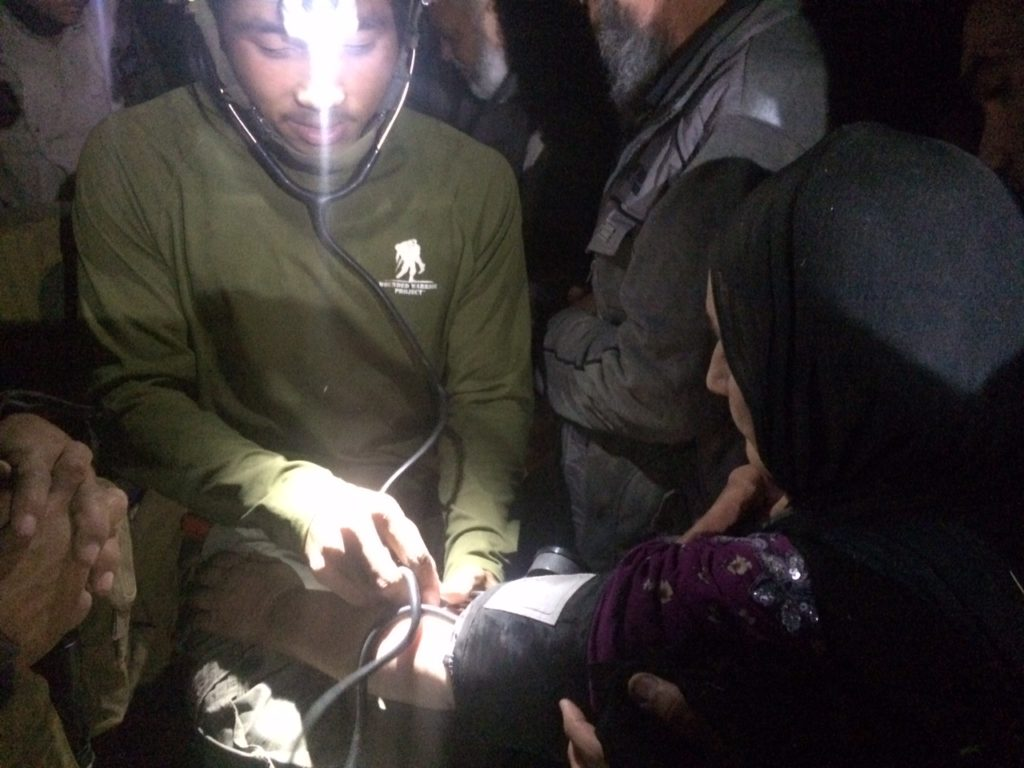 FBR medics operating on patients well into the night. Photo: FBR.