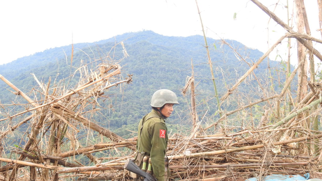 Kachin soldier on Gidon. Photo: FBR.