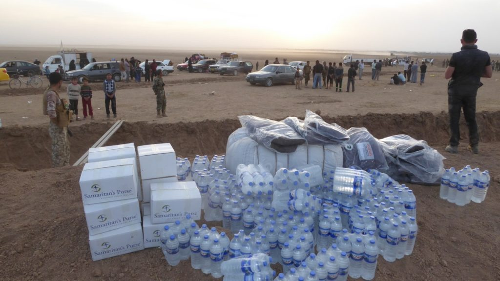 Supplies lie in wait for incoming IDPs. Photo: FBR.