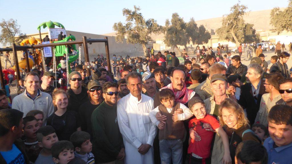 The Free Kurdish Ranger team and the families of Faisalia. Photo: FBR.