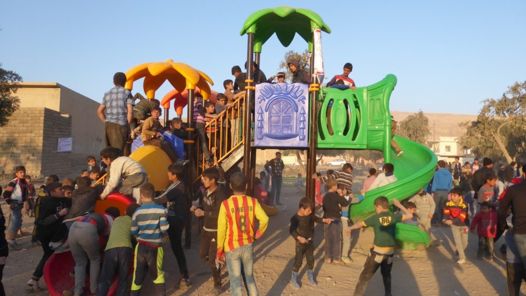 Side view of the new playground. Photo: FBR.