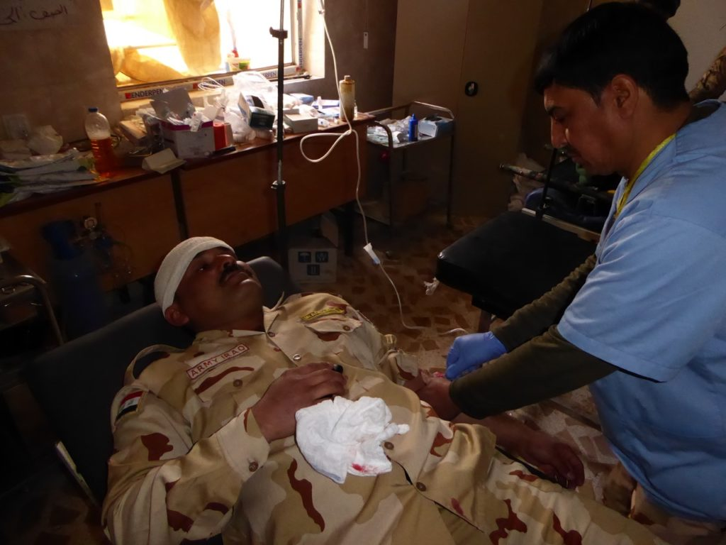 One of seven Iraqi's wounded by ISIS drone