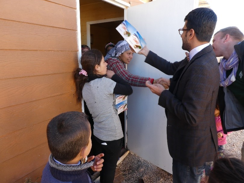 House calls to families taking care of orphans