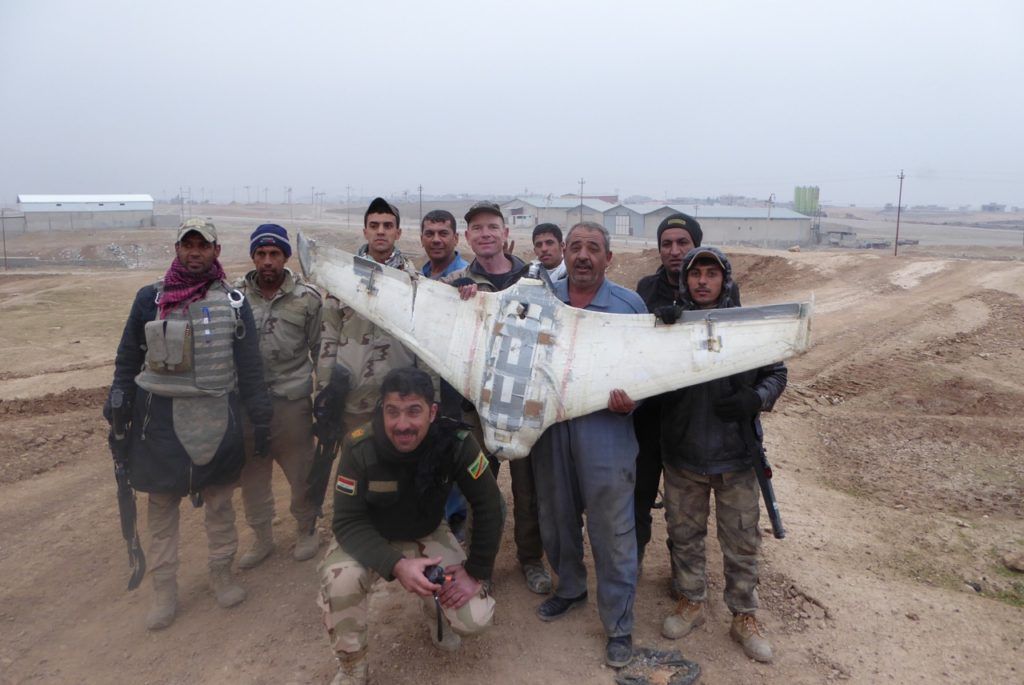 ISIS drone shot down these Iraqi soldiers in NE Mosul