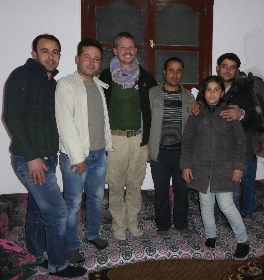 Praising God with our friends in city of Kobane
