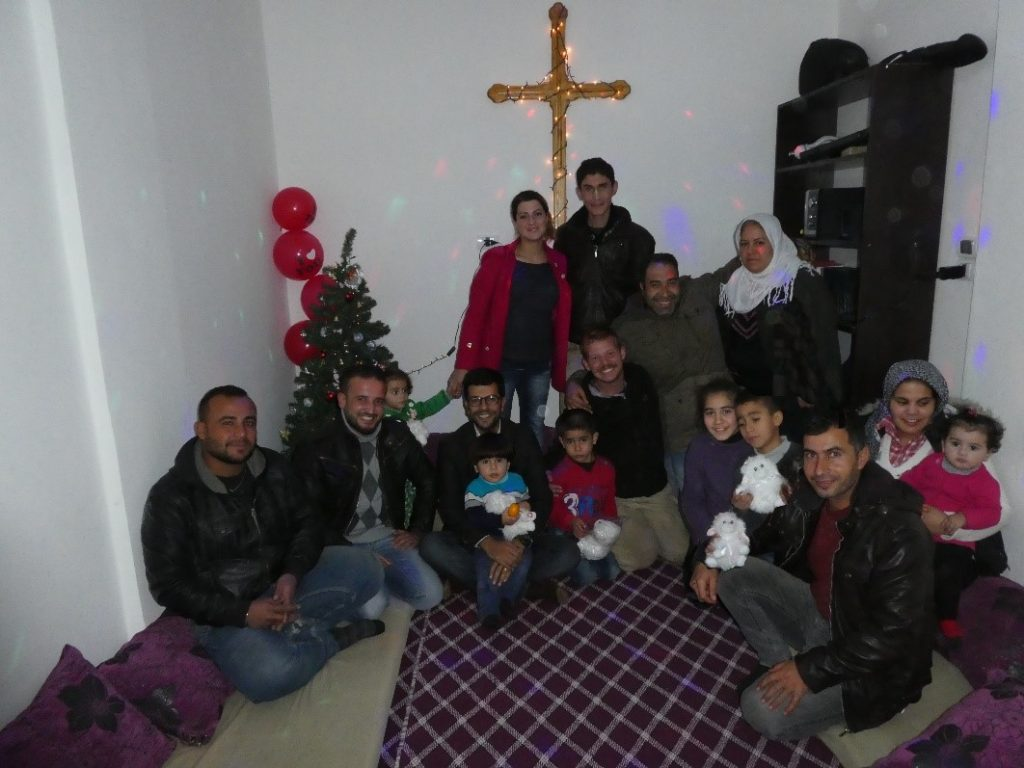 Early Christmas with new church in Kobane. Thanks to AVC ministries who is supporting them.