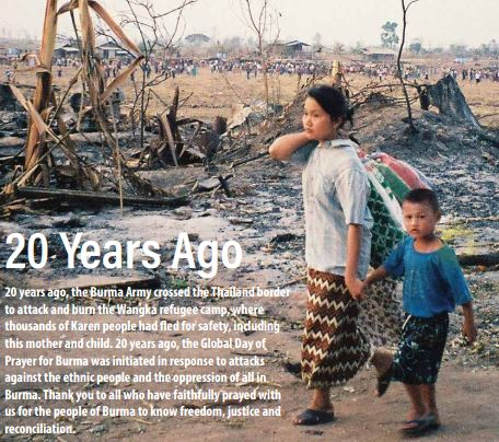 20 years ago the Burma Army crossed the Thailand border to attack and burn the Wangka refugee camp