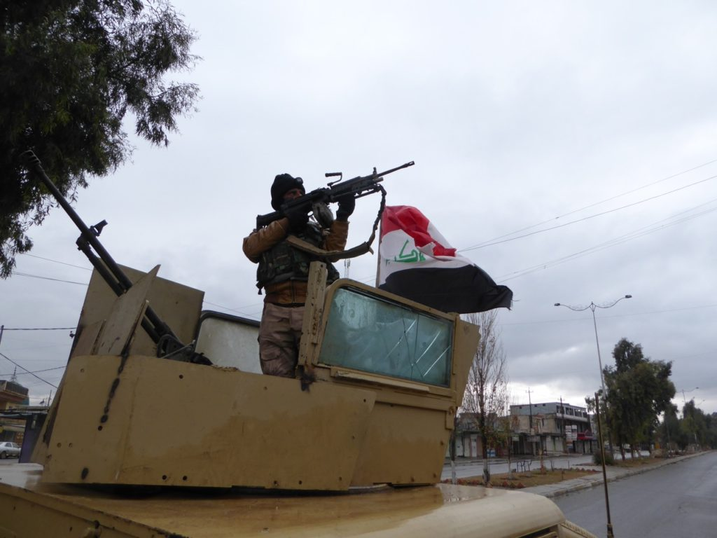 The Iraqi rescue force searches the area as we try to find Ayman Amin. Photo: FBR.