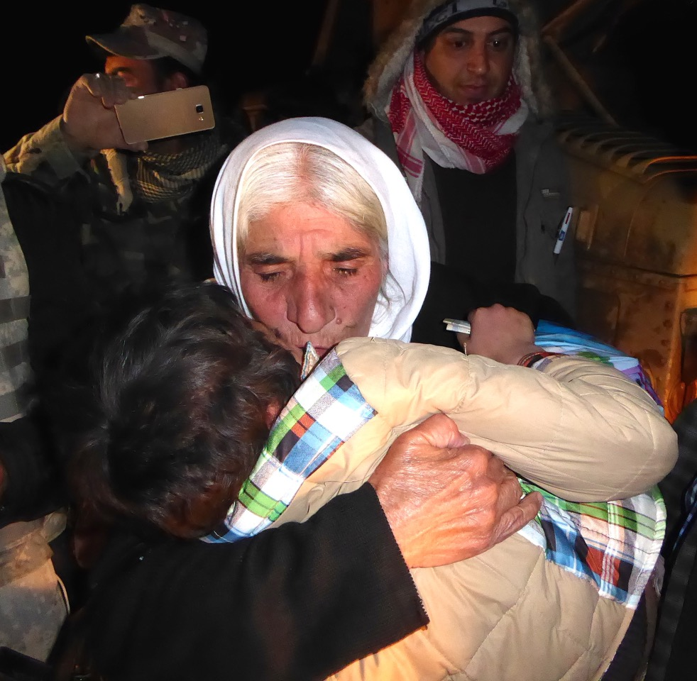 Ayman Amin reunited with his grandmother the same night back in Kurdistan. Photo: FBR.