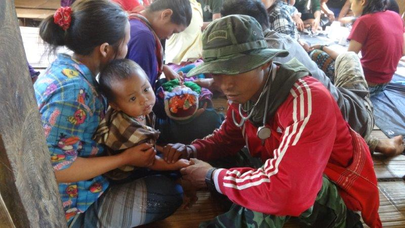 Ranger team sees patients at a make shift clinic