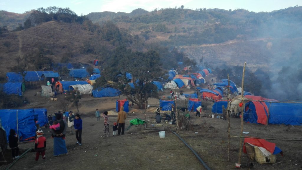 Sha It Yang IDP camp morning