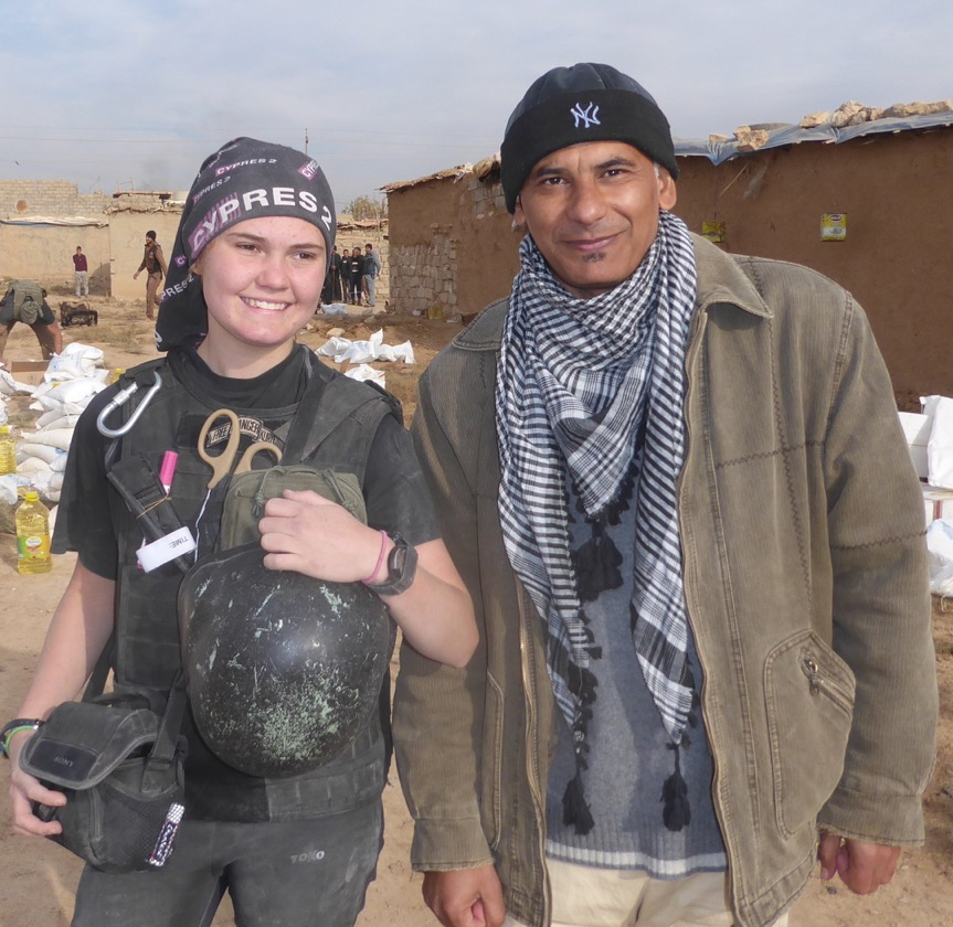 Haman with our daughter Sahale in Mosul
