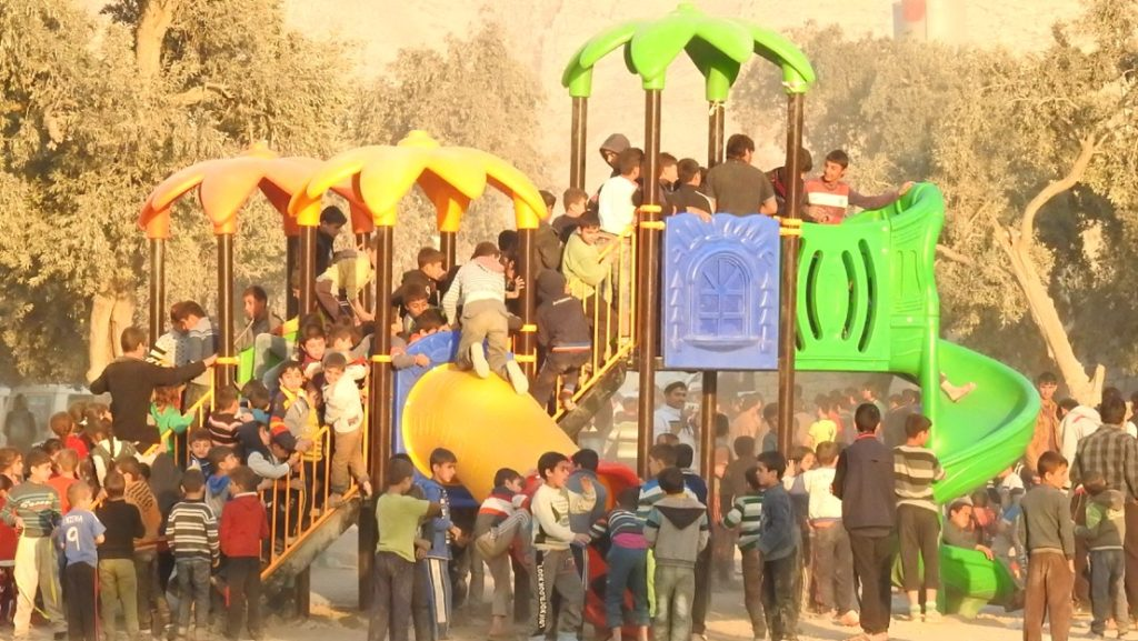 One of seven playgrounds built in Kurdistan & Iraq with Reload Love and other friends