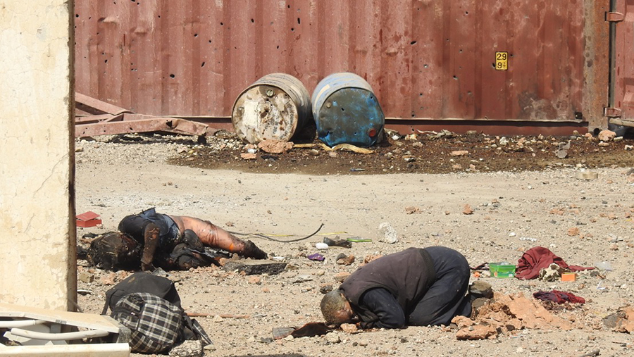 Some of the civilians trapped and killed by ISIS.