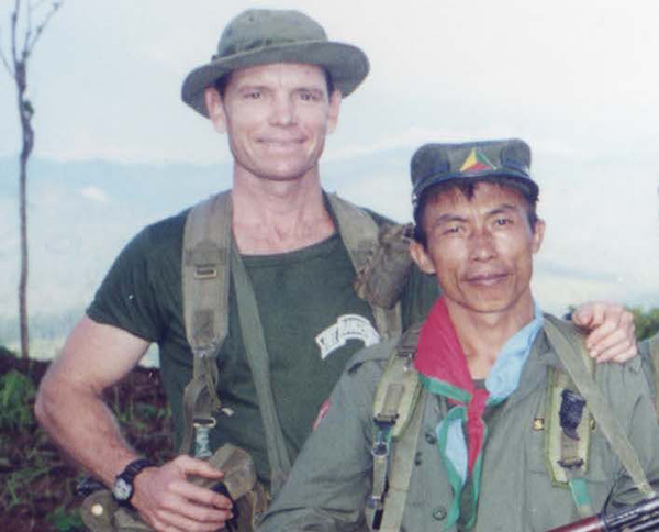 Mucu and Dave on a relief mission in Shan State, Burma, 2000.