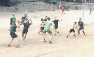 The American football competition of the reunion games.