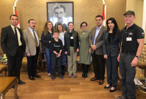 The Eubank family with Kurdish Parliament friends.