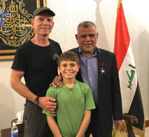 Peter and I with Hadi Al Amiri.