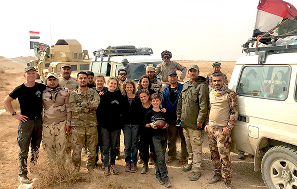 The FBR Iraq team with the Iraqi 36th Mechanized Brigade of the 9th Armored Division in Anbar desert.