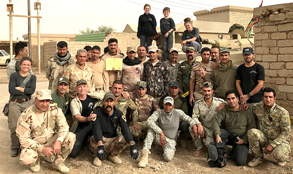 The FBR Iraq team with the 36th in Bayji.
