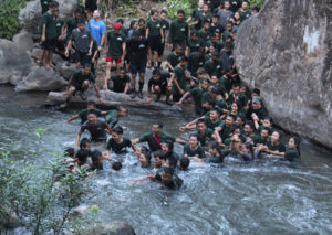 Ranger Run river crossing: don't let go of the person next to you!