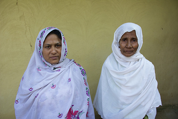Sameera, left, and Marium, after sharing their stories.
