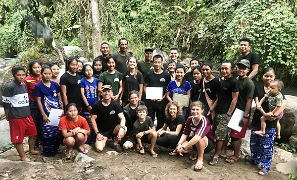 The group of baptized Rangers and volunteers who attended the baptism.