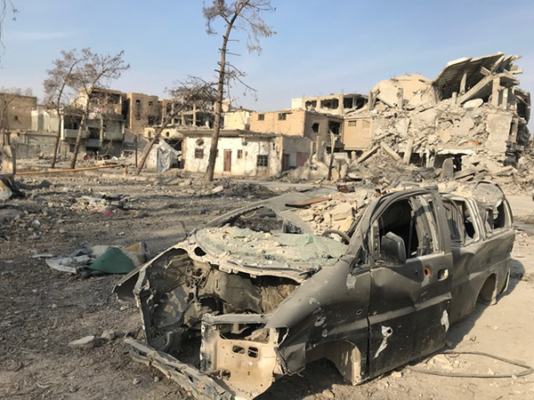 Raqqa destruction.
