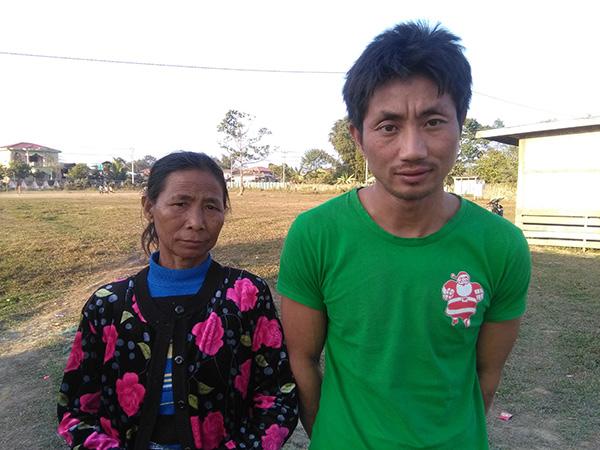 Hkabawng Nan Seng, left, with her son, Galung Mung Hkawng Ru.