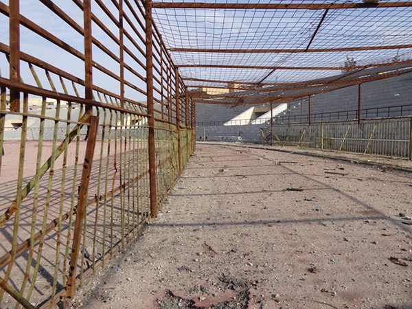 A cage where ISIS held women to sell.